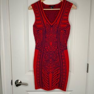 Forever 21 Printed Body Con Dress